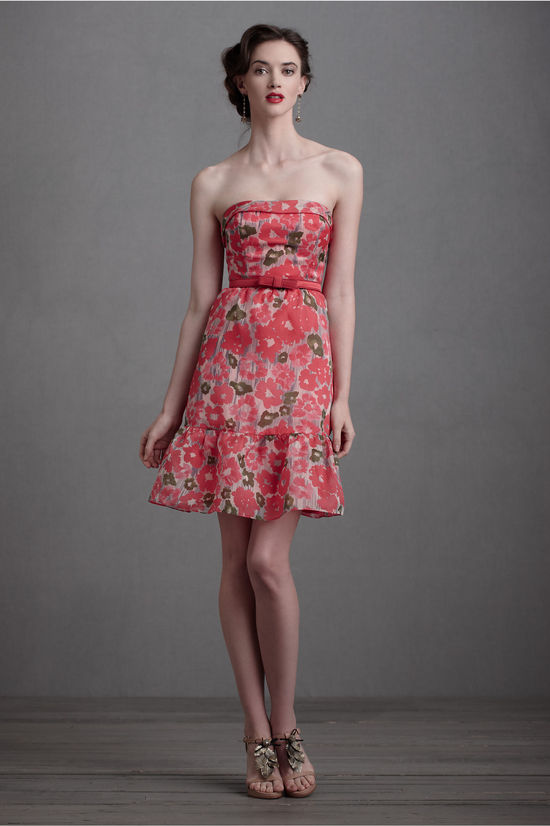floral printed bridesmaid dress by BHLDN