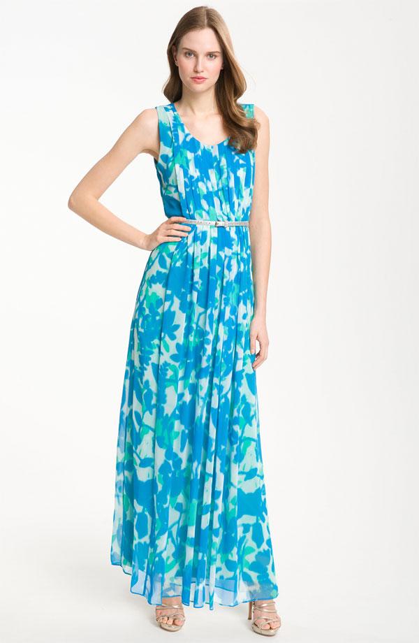 Blue Teal Bridesmaid Dress For Spring Summer Weddings