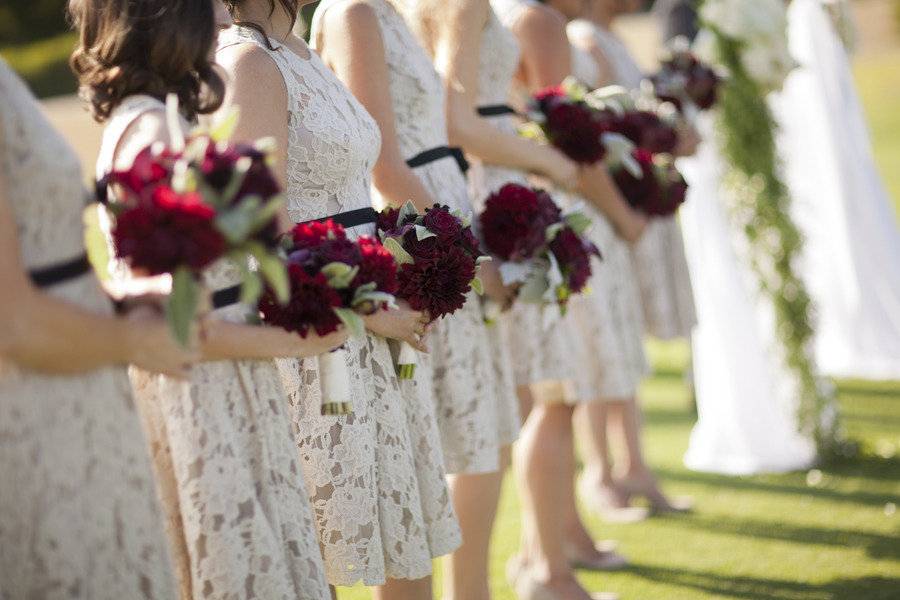 Red Sashes for Wedding Bridesmaids Dresses