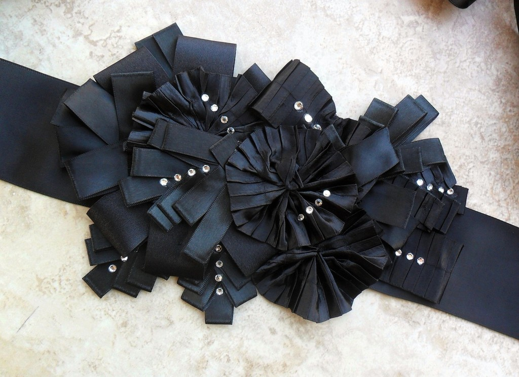 black bridal sash enzoani 2012 wedding accessories