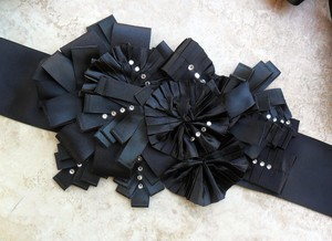 photo of Black Enzoani bridal sash