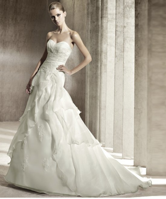 photo of 2012 wedding dress pronovias you collection affordable bridal gowns Janeiro
