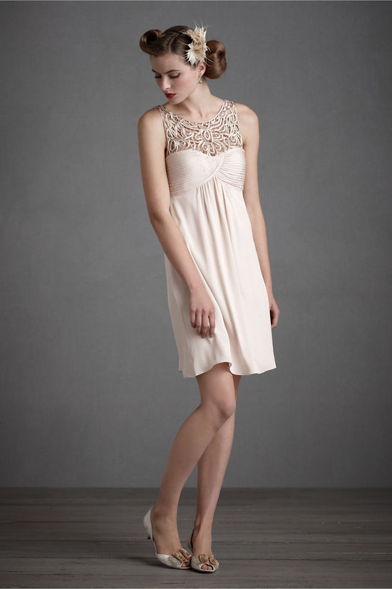 nude bridesmaid dress 2012 wedding trends
