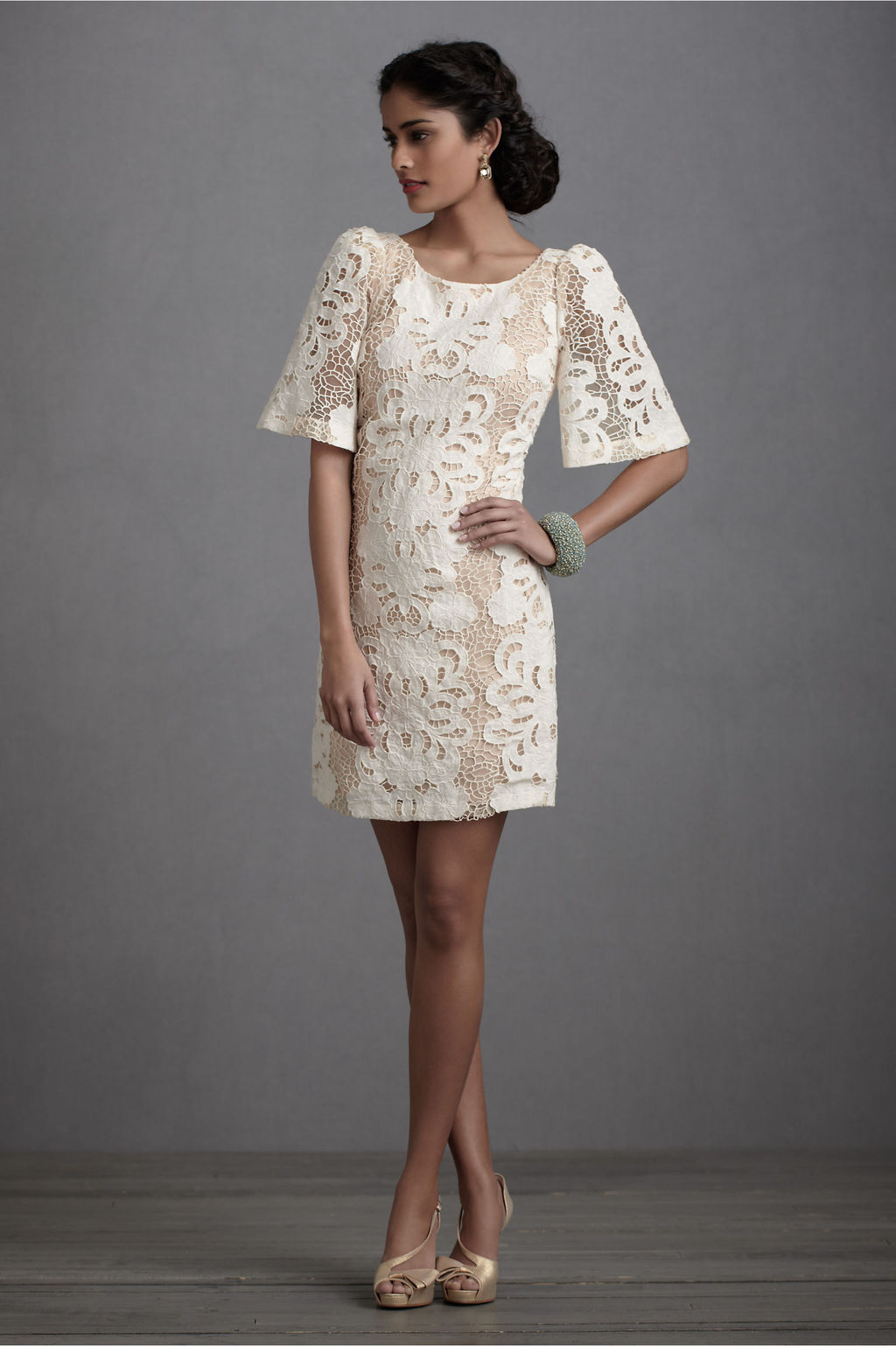 Bell-sleeve-wedding-reception-dress-ivory-lace-by-bhldn.full