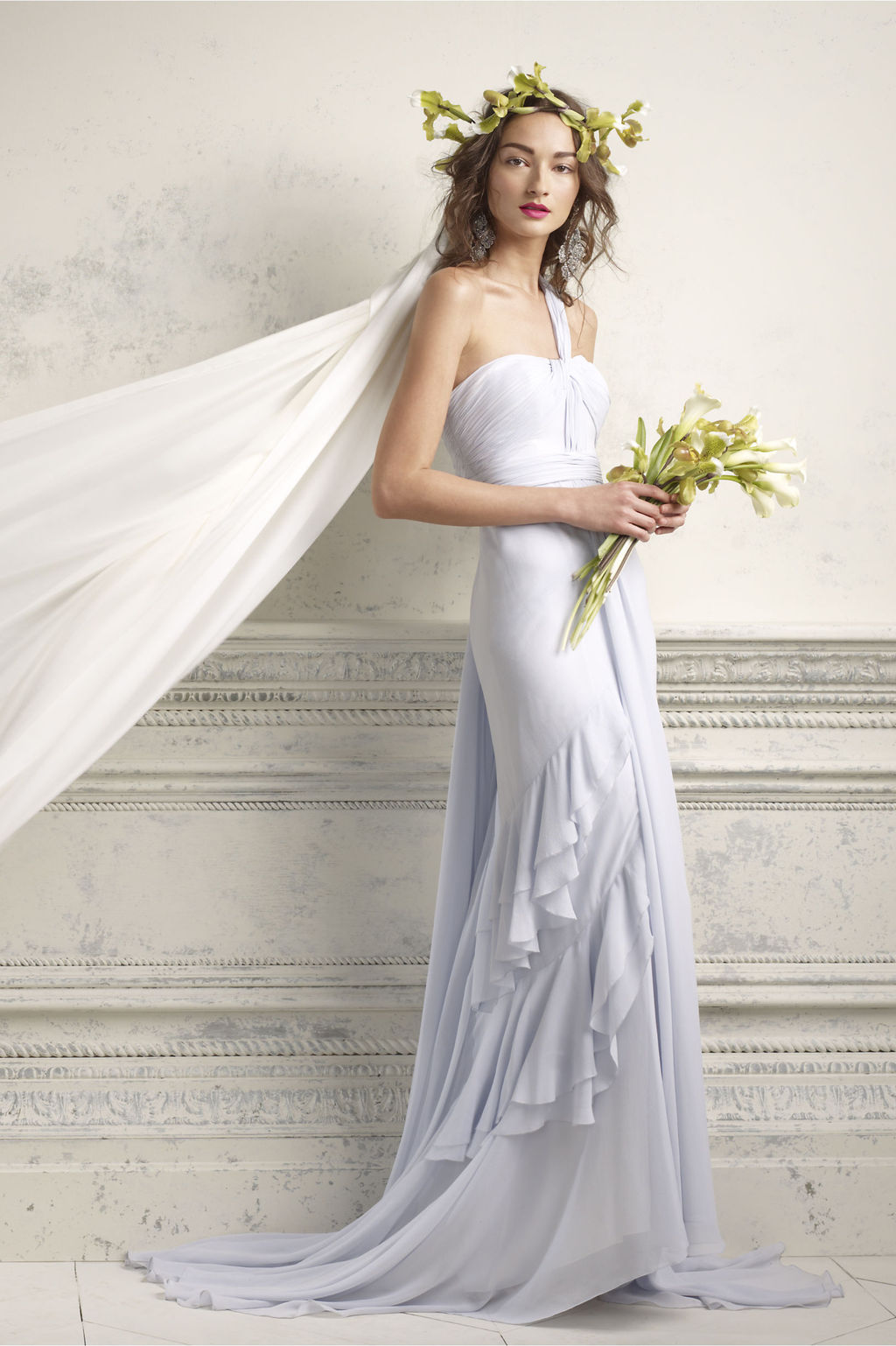 One shoulder lilac wedding dress 2012 bridal gowns by bhldn for Lilac dress for wedding
