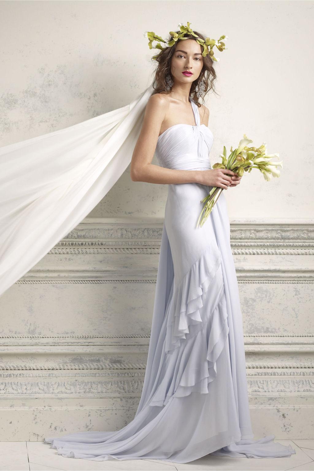 one shoulder lilac wedding dress 2012 bridal gowns by BHLDN