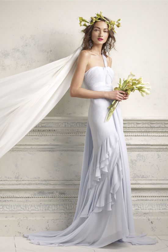 one shoulder lilac wedding dress 2012 bridal gowns by BHLDN