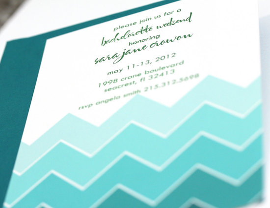 teal ombre wedding invitations