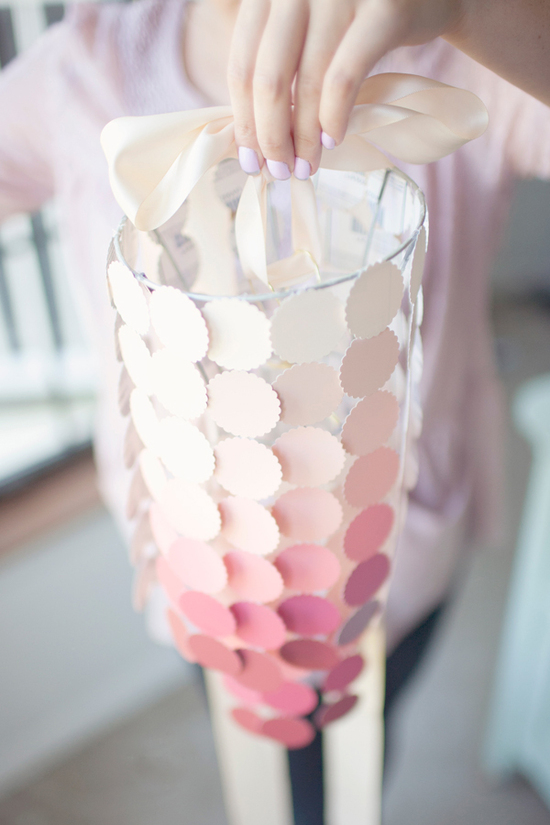 ombre DIY wedding lantern