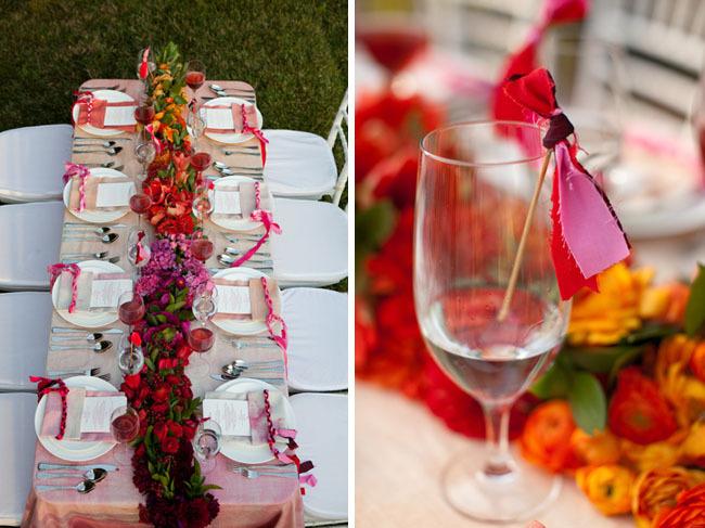 Ombre-wedding-ideas-pink-bridal-gown-umbrella-14.full