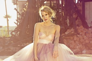 photo of Pink tulle ombre wedding dress