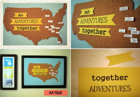 travel themed wedding ideas DIY wedding map