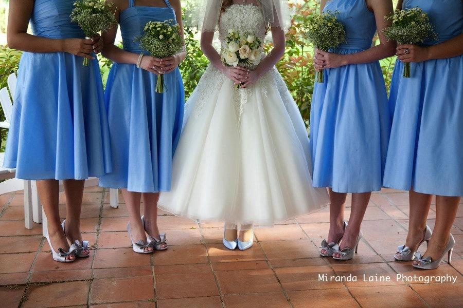 Secret-garden-wedding-inspiration-blue-bridesmaids-dresses-tea-length-wedding-dress.full