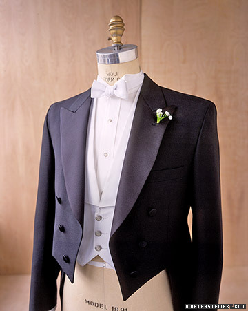 photo of grooms style guide white tie