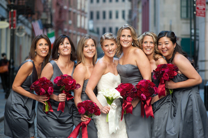 Bride-with-bridesmaids-in-grey-dresses-deep-red-bouquets.full
