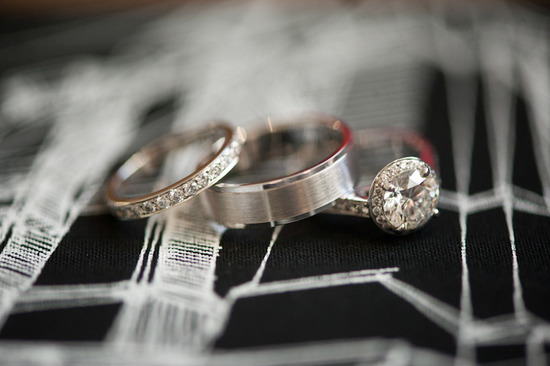 artistic engagement ring wedding bands photograph