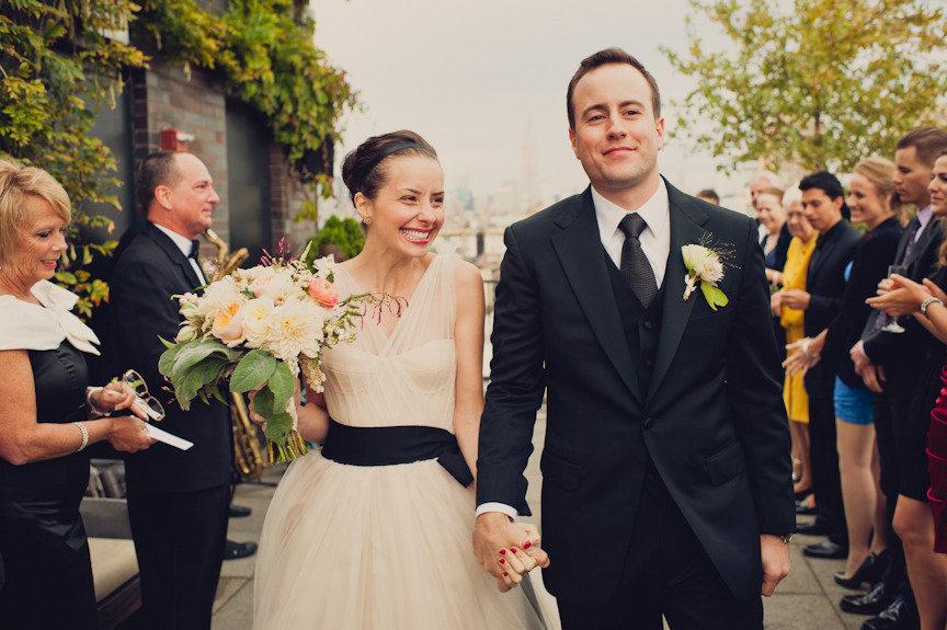 Vera-wang-wedding-dress-sheer-v-neckline-black-sash-1.full
