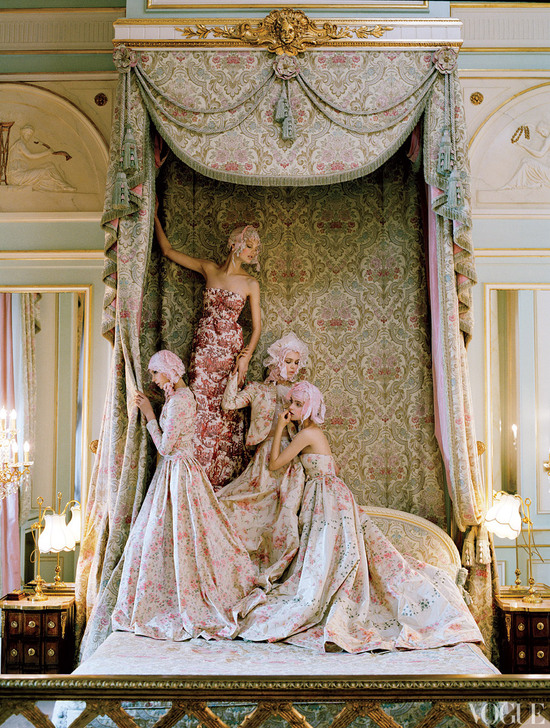 dramatic wedding inspiration kate moss elegant ballroom wedding venue printed wedding dresses