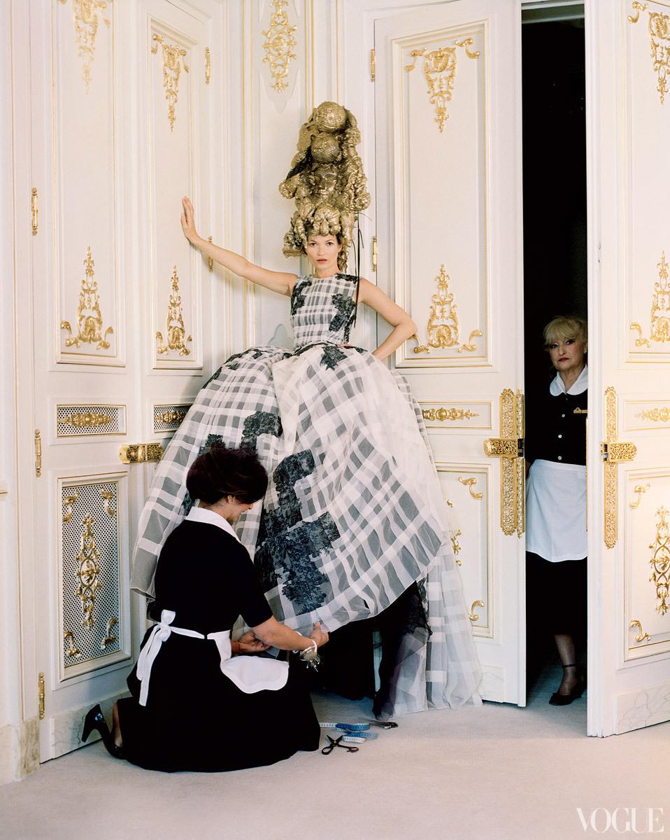 Dramatic Wedding Inspiration Kate Moss Elegant Ballroom Venue Black Ivory Dress
