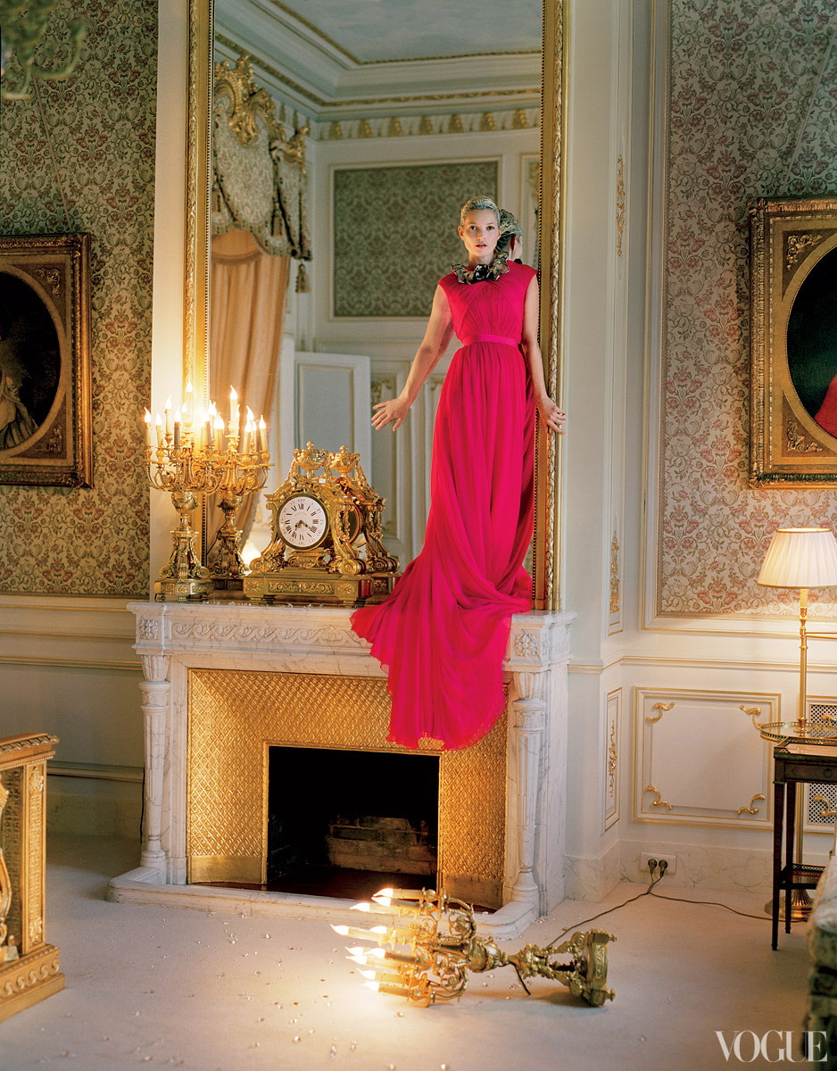 Dramatic-wedding-inspiration-kate-moss-elegant-ballroom-wedding-venue-hot-pink-bridesmaid-dress.original