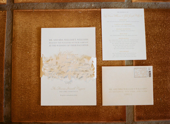 elegant real wedding outdoor reception under tent laser cut wedding invites
