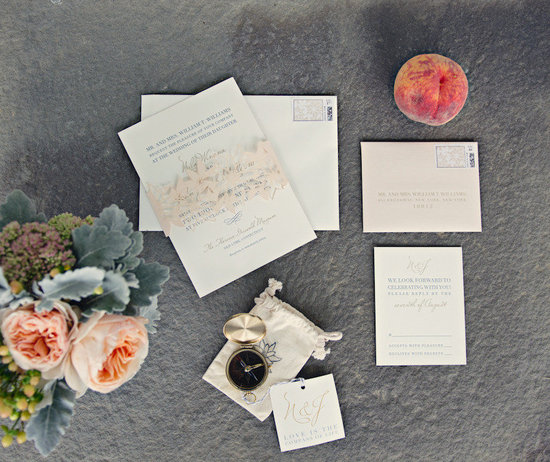elegant real wedding outdoor reception under tent vintage inspired stationery