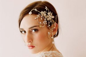 photo of Dazzling bridal headpiece