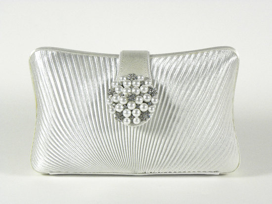 photo of Silver bridal clutch