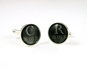 photo of Custom groom's cufflinks