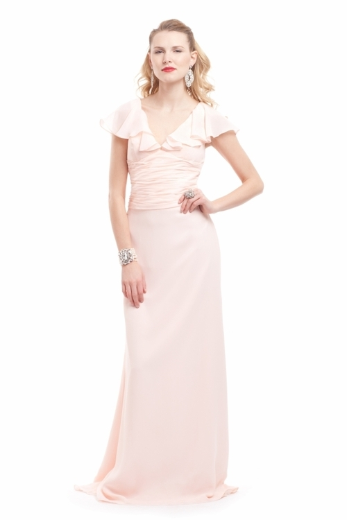lavender bridesmaid dress by badgley mischka 2012 light pink vintage inspired