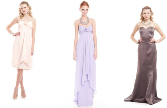 2012 bridesmaid dresses badgley mischka gowns pink purple taupe