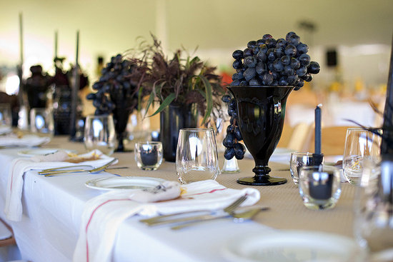 grape wedding centerpieces
