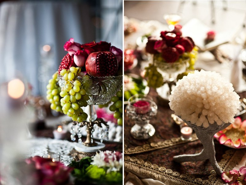 Elegant Wedding Reception Decor Centerpieces Using Fruit