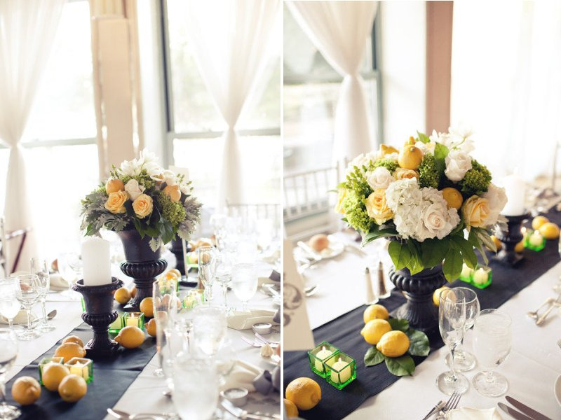 unique wedding centerpieces reception decor lemons