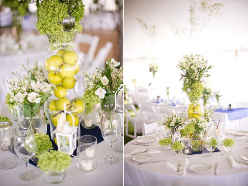 Unique wedding centerpieces using fruit green apples junglespirit Image collections