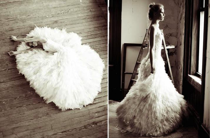 Black Swan Inspired 2012 Wedding Dress Monique Lhuillier