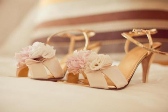 rose gold wedding shoes