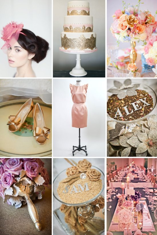 Pretty Pink and Gold Wedding Inspiration