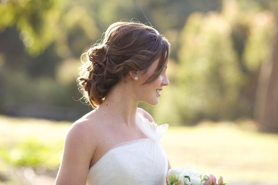 Romantic Bridal Hairstyle : Romantic bridal updo vintage inspired wedding hair