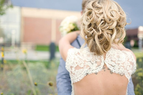 all up wedding hair for spring summer brides lace wedding dress
