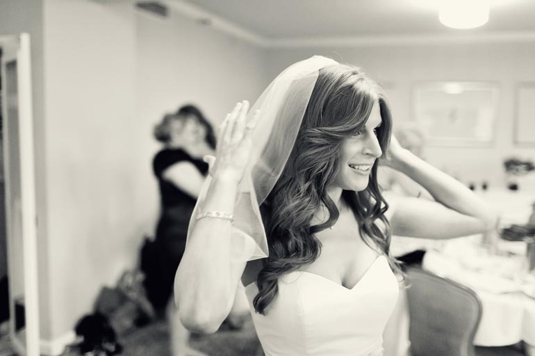 all down wedding hair loose waves sideswept bangs