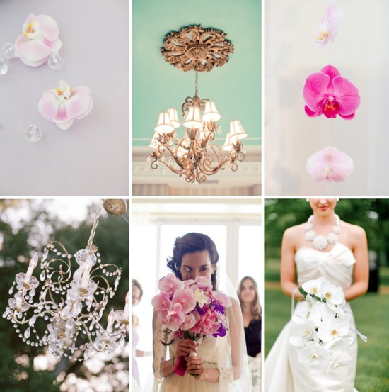 orchids and chandeliers wedding inspiration