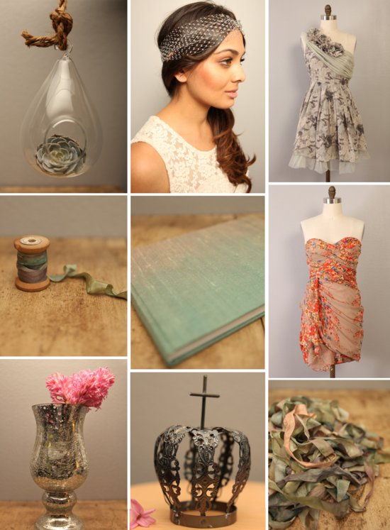 vintage wedding inspiration ombre touches