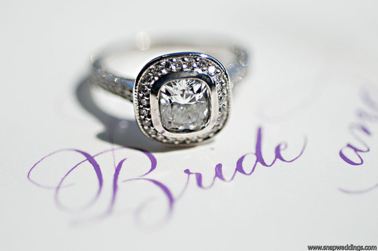 86 percent of women get engaged for the diamond engagement ring artistic wedding photo purple white