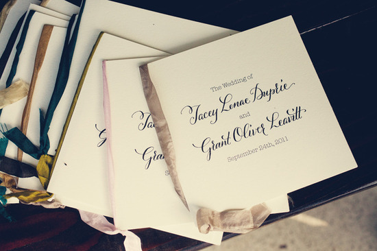 elegant yet modern wedding ceremony programs