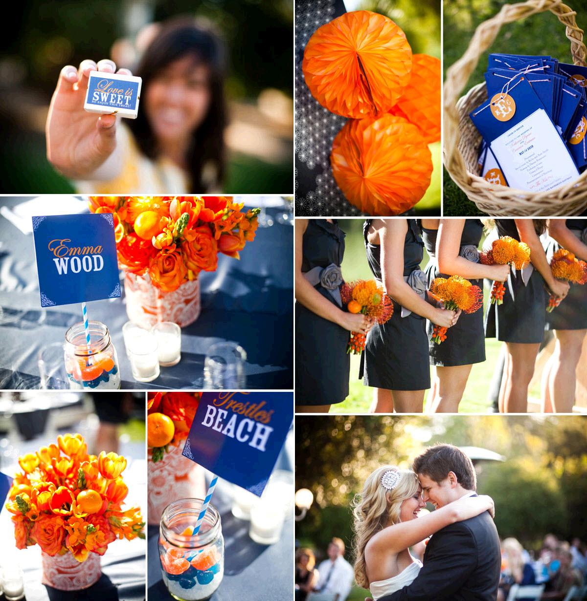 Wedding Decorations Blue And Orange : Pics photos navy blue and orange wedding decor