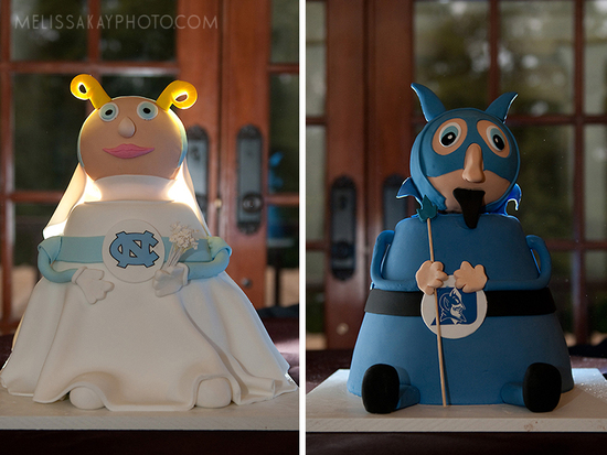 march madness wedding cakes North Carolina vs Duke
