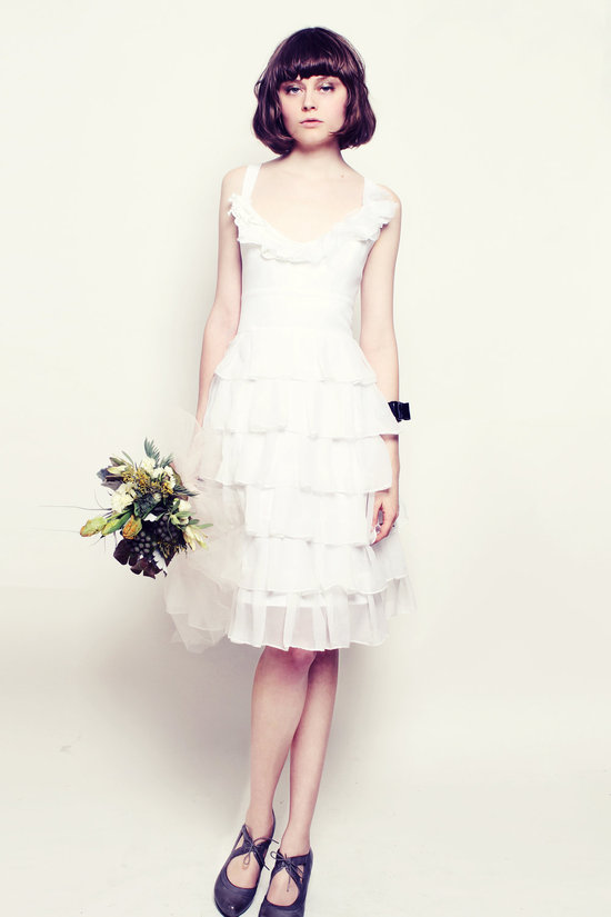 photo of Pearl little white wedding dress
