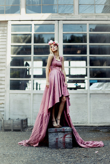 photo of 2012 bridesmaid dress dusty rose