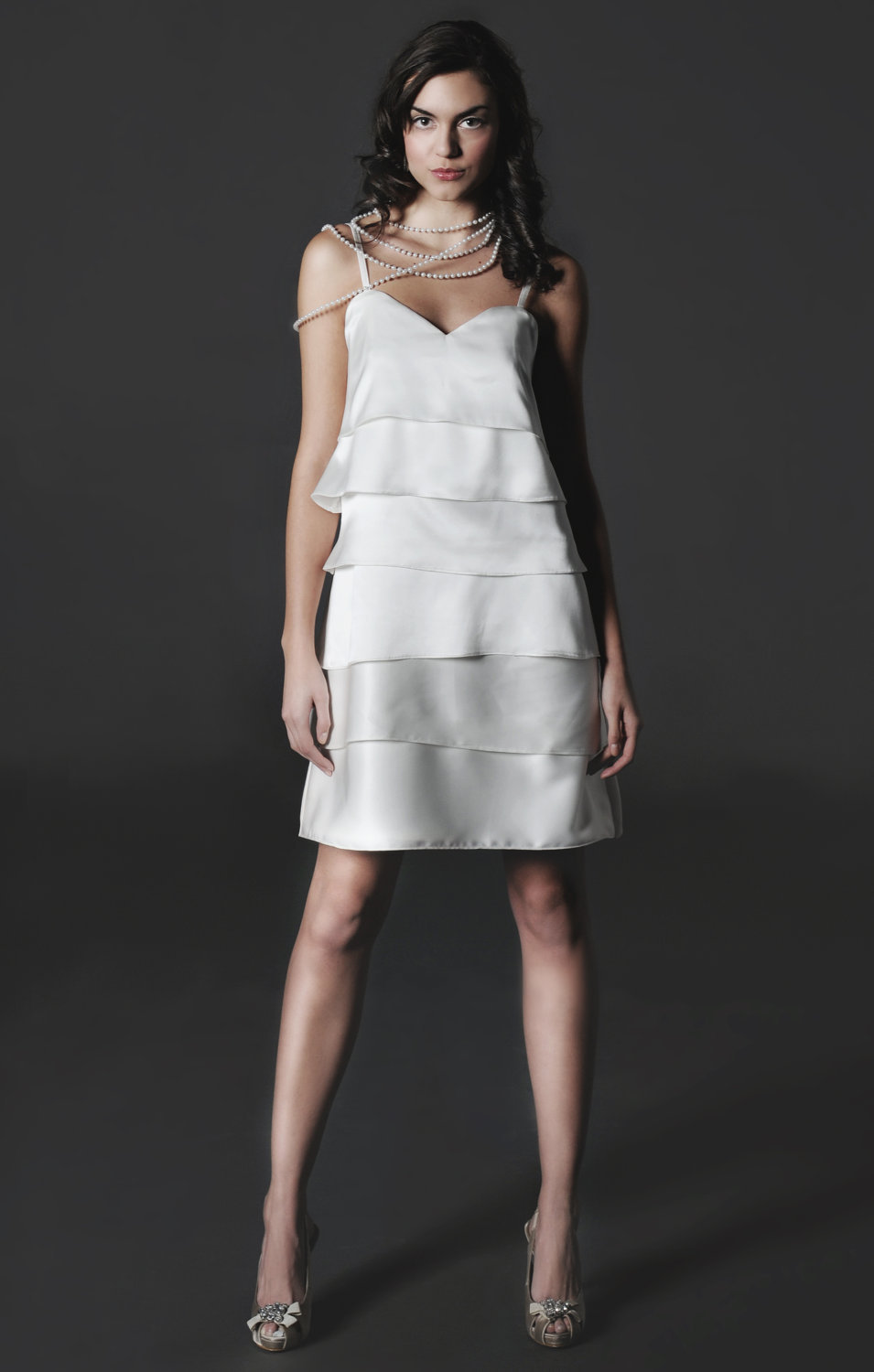 2012 chic little white dress for wedding reception silk for White dress for wedding reception